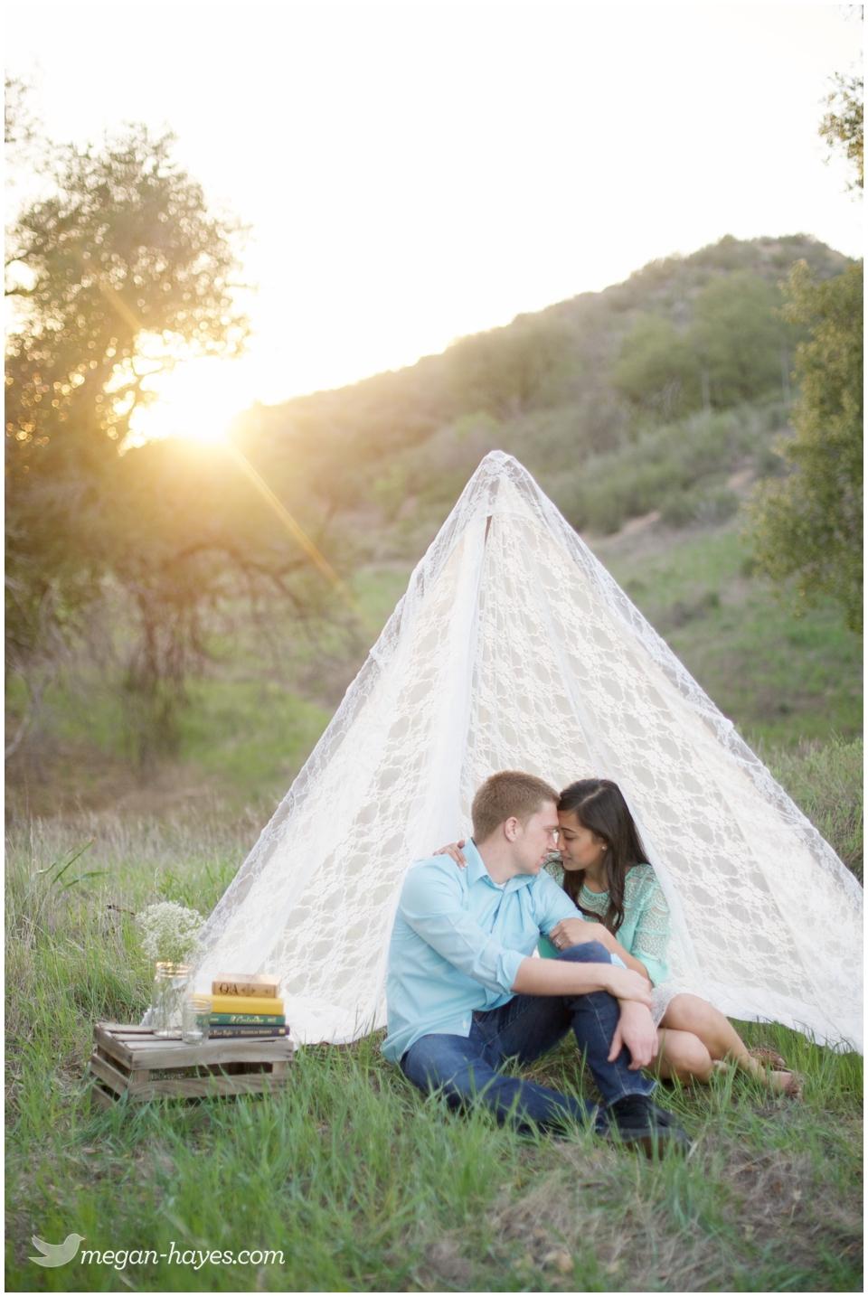 Lace Tent Engagement Session