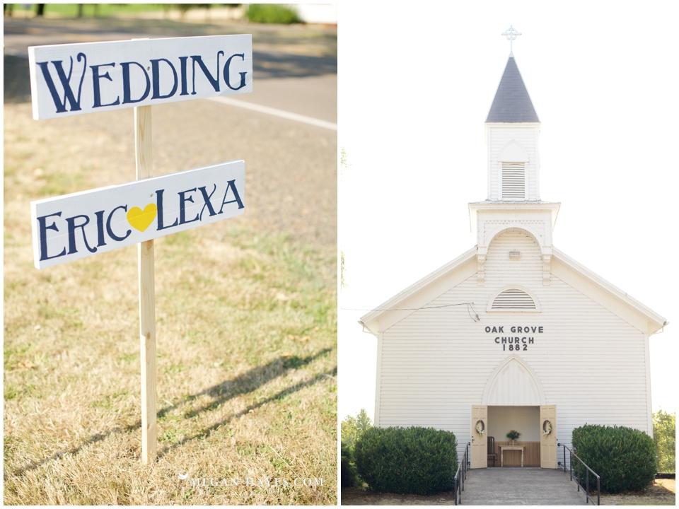 Oak Grove Church Wedding